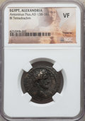 Ancients:Roman Provincial , Ancients: EGYPT. Alexandria. Antoninus Pius (AD 138-161). BItetradrachm. NGC VF....