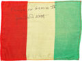 Explorers:Space Exploration, Gemini 4 Flown Guinea Flag Originally from the Personal Collectionof Mission Command Pilot Jim McDivitt, Signed and Certified...(Total: 2 Items)