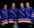 Hockey Collectibles:Others, New York Rangers Legends Multi Signed Oversized Photograph....