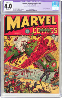 Marvel Mystery Comics #40 (Timely, 1943) CGC Apparent VG 4.0 Slight (C-1) Off-white pages