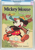 Platinum Age (1897-1937):Miscellaneous, Mickey Mouse Magazine #7 (K. K. Publications/Western PublishingCo., 1936) CGC FN/VF 7.0 Off-white to white pages....
