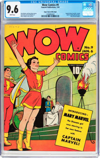 Wow Comics #9 Mile High Pedigree (Fawcett Publications, 1943) CGC NM+ 9.6 White pages