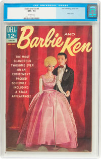 Barbie and Ken #5 (Dell, 1964) CGC NM+ 9.6 Off-white pages