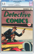 Golden Age (1938-1955):Crime, Detective Comics #10 (DC, 1937) CGC FN- 5.5 Cream to off-white pages....