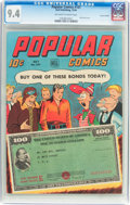 Golden Age (1938-1955):Adventure, Popular Comics #101 Central Valley Pedigree (Dell, 1944) CGC NM 9.4 Off-white to white pages....