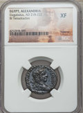 Ancients:Roman Provincial , Ancients: EGYPT. Alexandria. Elagabalus (AD 218-222). BItetradrachm. NGC XF....