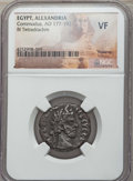 Ancients:Roman Provincial , Ancients: EGYPT. Alexandria. Commodus (AD 177-192). BI tetradrachm.NGC VF....