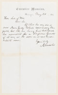Autographs:U.S. Presidents, Abraham Lincoln Autograph Letter Signed on Executive MansionLetterhead....