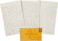 Miscellaneous:Ephemera, Union Signal Corps Letter by Elisha N. Peirce with ContrabandContent. ...