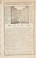 Books:Periodicals, [Revolutionary War]. Sylvanus Urban, editor. The Gentlemen'sMagazine for May, 1776....