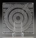 Art Glass:Lalique, R. Lalique Clear and Frosted Glass Cercle Perle Architectural Panel. Circa 1934. Stenciled: R. LALIQUE, FRANCE...