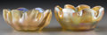 Art Glass:Tiffany , Two Tiffany Studios Gold Favrile Glass Bowls. Circa 1900. Marks:L.C.T.; R3417. Ht. 2-1/8 x 4-1/2 in. (larger). ... (Total: 2Items)