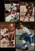 Hockey Collectibles:Others, Gordie Howe Signed Magazine Clipping Photos (4). ...