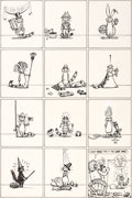 Original Comic Art:Covers, Gilbert Shelton and Dave Sheridan Fabulous Furry FreakBrothers #4 Fat Freddy's Cat Inside Front Cover Original Ar...
