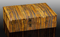 Lapidary Art:Boxes, Tiger's Eye Box. South Africa. ...