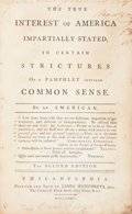 "Books:Americana & American History, Thomas Paine's ""Common Sense"" Refuted: A 1776 Tory Response Printed in Philadelphia...."