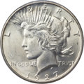 Peace Dollars, 1927-D $1 MS65+ PCGS....