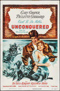 "Movie Posters:Adventure, Unconquered & Other Lot (Paramount, R-1955). One Sheets (2)(27"" X 41""). Adventure.. ... (Total: 2 Items)"