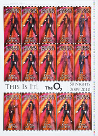 "Michael Jackson: This is It! (The O2, 2009). Lenticular Ticket Proofs (2) (20"" X 28""). Rock and Roll ... (Tota..."
