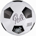 Autographs:Others, Pele Signed Soccer Ball. ...