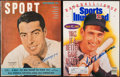 Baseball Collectibles:Publications, Joe DiMaggio and Ted Williams Signed Magazine Pair (2)....