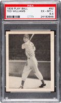 Baseball Cards:Singles (1930-1939), 1939 Play Ball Ted Williams #92 PSA EX-MT+ 6.5....