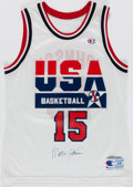 Basketball Collectibles:Uniforms, Magic Johnson Signed Dream Team I Jersey. ...