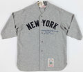 """Baseball Collectibles:Uniforms, Frank Crosetti Signed Full Name and Inscribed """"1932-1968 23 World Series"""" Jersey...."""