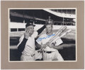 Baseball Collectibles:Photos, Mickey Mantle Signed Oversize Photograph - 1956 Triple CrownWinner....