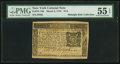Colonial Notes:New York, New York March 5, 1776 $1/6 PMG About Uncirculated 55 EPQ.. ...