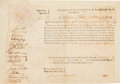 Miscellaneous:Ephemera, Benjamin Lincoln: Impressive 1776 Document Signed by the GeneralWho Received Cornwallis's Sword at Yorktown, Appointing a For...