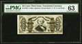 Fractional Currency:Third Issue, Fr. 1332 50¢ Third Issue Spinner PMG Choice Uncirculated 63.. ...