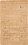 "Miscellaneous:Ephemera, 1776 Revolutionary War Enlistment Document: Nine Rhode IslandSoldiers Agree to Serve ""as soldiers in Ye Pay of the Colony of ..."