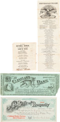 Political:Small Miscellaneous (pre-1896), Ulysses S. Grant et al: Ballots and Political Currency....