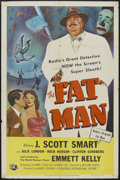 "Movie Posters:Mystery, The Fat Man (Universal International, 1951). One Sheet (27"" X 41"").Mystery. Starring Julie London, Rock Hudson, Clinton Sun..."