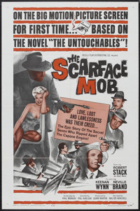 "The Scarface Mob (Desilu Productions Inc., 1962). One Sheet (27"" X 41""). Crime. Starring Robert Stack, Keenan..."