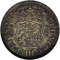Mexico: , Mexico: Ferdinand VI silver 2 Reales 1756-Mo M, KM-86.1, MS65 NGC,a superb coin, sharply struck and centered, jumbo denticles, and...