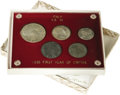 Italy: , Italy: Vittorio Emanuele III 5-piece mint set of types, mostly1936-R Year XIV (silver 20 Lire, 10 Lire, 5 Lire, nickel 1 Lire)tog... (Total: 5 Coins Item)