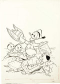Original Comic Art:Covers, Dynabrite Comics #11352 Donald Duck Cover Original Art (Whitman,1978)....