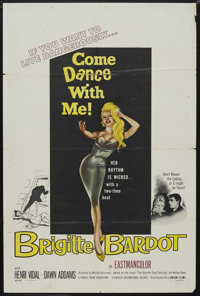"Come Dance With Me! (Sofradis, 1959). One Sheet (27"" X 41""). Mystery. Starring Brigitte Bardot, Henri Vidal, P..."