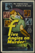 "Movie Posters:Mystery, Five Angles on Murder (Columbia, 1950). One Sheet (27"" X 41"").Mystery. Starring Jean Kent, Dirk Bogarde, Susan Shaw, John M..."