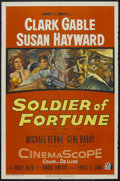 "Movie Posters:Adventure, Soldier of Fortune (20th Century Fox, 1955). One Sheet (27"" X 41""). Adventure. Starring Clark Gable, Susan Hayward, Michael ..."
