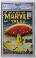 Golden Age (1938-1955):Science Fiction, Marvel Tales #134 White Mountain pedigree (Atlas, 1955) CGC VF+ 8.5White pages....