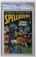 Golden Age (1938-1955):Horror, Spellbound #14 White Mountain pedigree (Atlas, 1953) CGC VF/NM 9.0White pages....