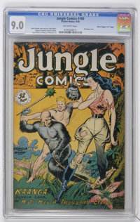"Jungle Comics #100 Davis Crippen (""D"" Copy) pedigree (Fiction House, 1948) CGC VF/NM 9.0 Off-white pages"