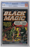 "Golden Age (1938-1955):Horror, Black Magic V2#2 Davis Crippen (""D"" Copy) pedigree (Prize, 1951)CGC VF 8.0 Off-white to white pages...."