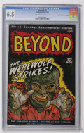 "Golden Age (1938-1955):Horror, The Beyond #1 Davis Crippen (""D"" Copy) pedigree (Ace, 1951) CGC FN+6.5 Off-white to white pages...."