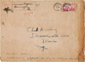 Baseball Collectibles:Others, 1941 Honus Wagner Twice Signed Oversized Envelope. ...