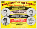 Boxing Collectibles:Autographs, 1978 Roberto Duran Signed Onsite Fight Poster....