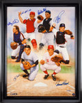Baseball Collectibles:Others, 2000 Legendary Catchers Signed Giclee Presented to Yogi Berra.. ...